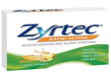 ZYRTEC® LIQUID CAPSULES