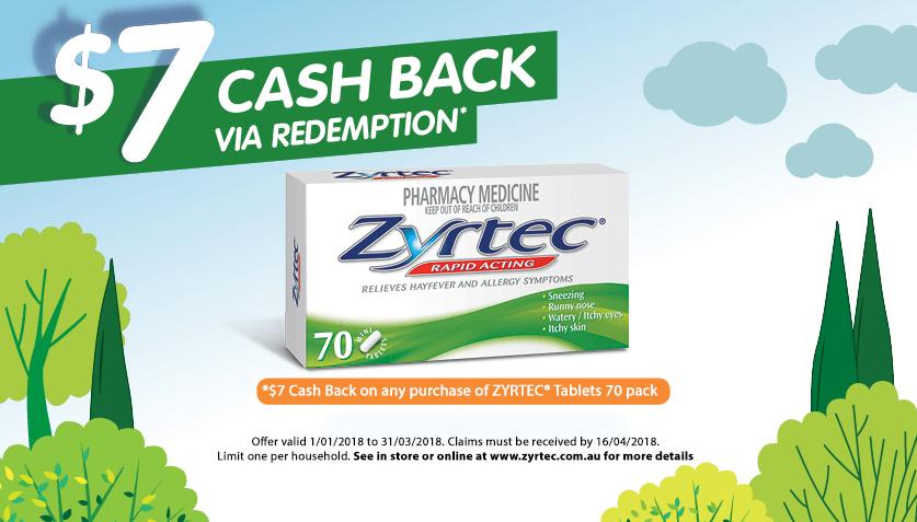 Zyrtec Cashback Banner 70 Pack